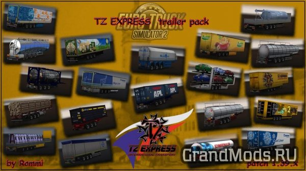 TZ Express Trailers Pack [ETS2 v.1.39x]
