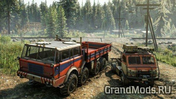 SnowRunner пополнили два полноприводных грузовика Tatra