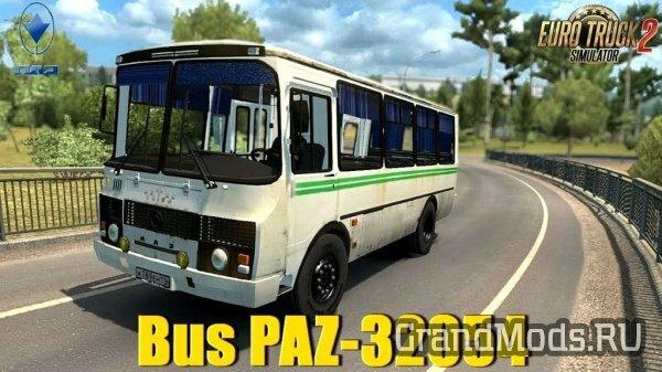 Русский автобус ПАЗ-34054 для ETS2 1.41