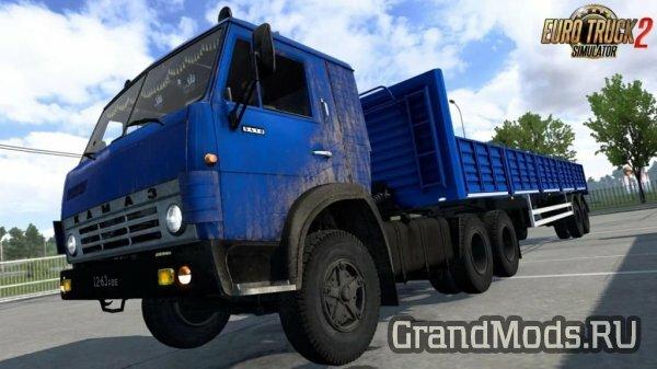 Набор грузовиков КамАЗ и прицепов для ETS2