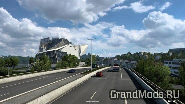 Обновленный город Лион в ETS2